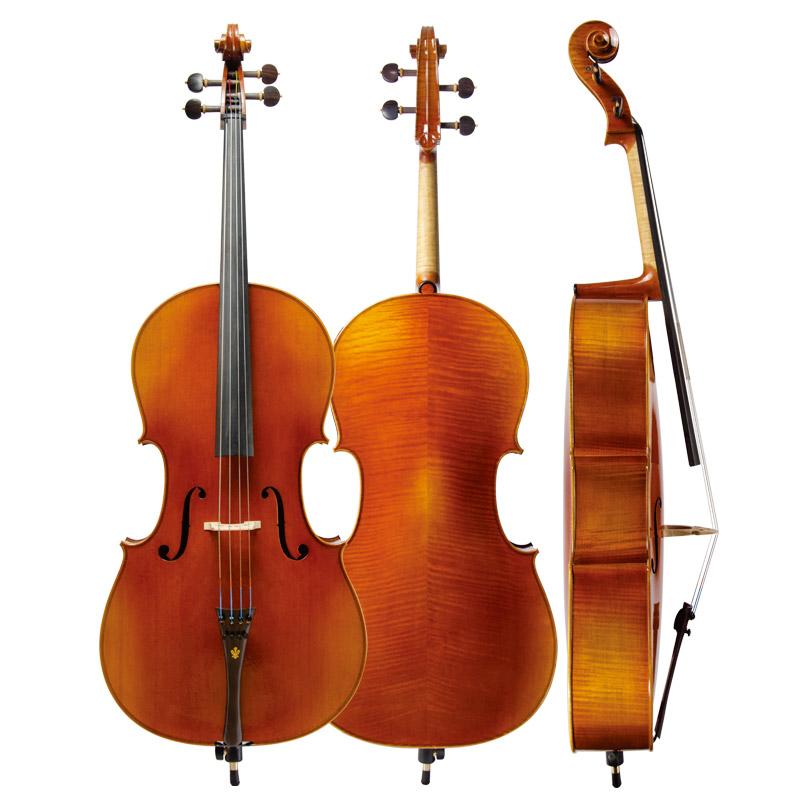 Christina C09 cello high-grade tiger grain matte antique handmade cello musical instrument