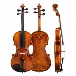 Christina V07-Carved Sculpture Series Spruce Wood Violin. Advanced Italian Violins Musical Instrument