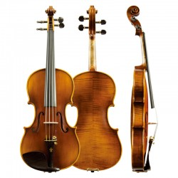 Christina Violin V06B Handmade Maple flamed Ebony Upscale Solo Violin, Grading musical instrument