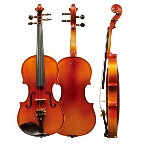 Christina V04 Maple flamed violin, Antique Matte Ebony Wood Natural Handmade Violin, for Adults and Children